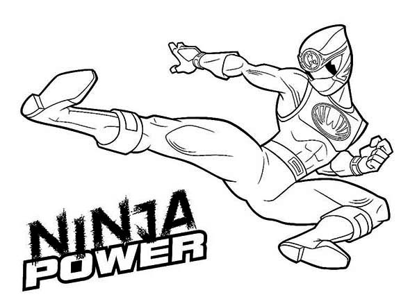 Power Rangers, : Ninja Power Rangers Coloring Page