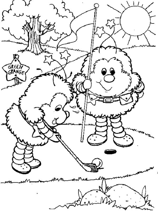 Rainbow Brite, : OJ and Twink Play Golf in Rainbow Brite Coloring Page