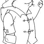 Paddington Bear, Paddington Bear Greeting Someone Coloring Page: Paddington Bear Greeting Someone Coloring Page