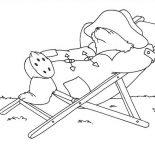 Paddington Bear, Paddington Bear Lazy Day Coloring Page: Paddington Bear Lazy Day Coloring Page
