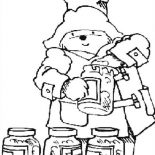 Paddington Bear, Paddington Bear Love Honey Very Much Coloring Page: Paddington Bear Love Honey Very Much Coloring Page