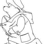 Paddington Bear, Paddington Bear Play Football Coloring Page: Paddington Bear Play Football Coloring Page