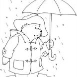Paddington Bear, Paddington Bear Stuck On Flood Coloring Page: Paddington Bear Stuck on Flood Coloring Page