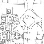 Paddington Bear, Paddington Bear Want To Buy Some Honey Coloring Page: Paddington Bear Want to Buy Some Honey Coloring Page