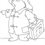 Paddington Bear, Paddington Bear Want To Travel Out Of Town Coloring Page: Paddington Bear Want to Travel Out of Town Coloring Page