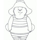 Paddington Bear, Paddington Bear Would Like To Swim Coloring Page: Paddington Bear Would Like to Swim Coloring Page