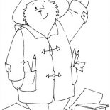 Paddington Bear, Paddington Bear The Architect Coloring Page: Paddington Bear the Architect Coloring Page