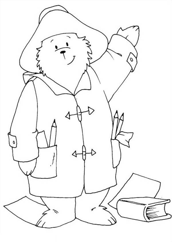 Paddington Bear, : Paddington Bear the Architect Coloring Page
