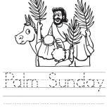 Palm Sunday, Palm Sunday Worksheet Coloring Page: Palm Sunday Worksheet Coloring Page