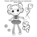 Lalaloopsy, Peabut Big Top Loves To Entertain Her Friends With Funny Jokes And Spectacular Circus Tricks Lalaloopsy Coloring Page: Peabut Big Top Loves to Entertain Her Friends with Funny Jokes and Spectacular Circus Tricks Lalaloopsy Coloring Page