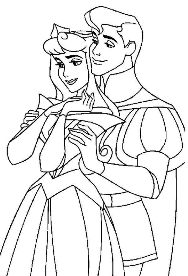 Sleeping Beauty, : Perfect Couple in Sleeping Beauty Movie Coloring Page
