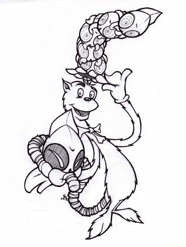 The Cat in the Hat, : Picture of Dr Seuss the Cat in the Hat Coloring Page
