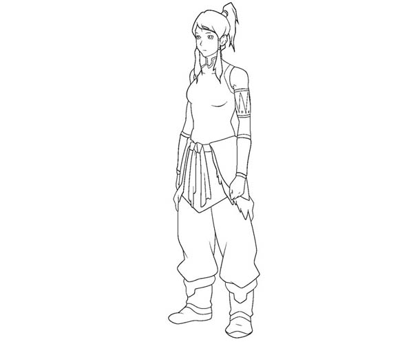 Picture Of Korra Coloring Page : Color Luna