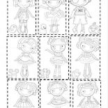 Lalaloopsy, Picture Of Lalaloopsy All Characters Coloring Page: Picture of Lalaloopsy All Characters Coloring Page
