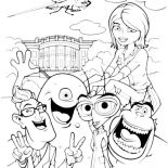 Monsters vs Aliens, Picture Of Monster Vs Aliens Coloring Page: Picture of Monster vs Aliens Coloring Page