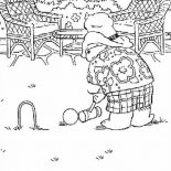 Paddington Bear, Picture Of Paddington Bear Coloring Page: Picture of Paddington Bear Coloring Page