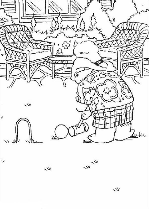 Paddington Bear, : Picture of Paddington Bear Coloring Page