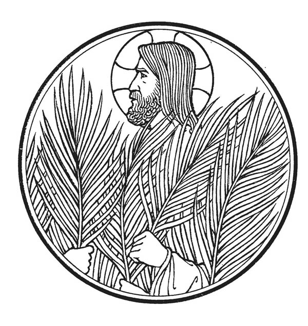 Palm Sunday, : Picture of Palm Sunday Coloring Page