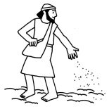Parable of the Sower, Picture Of Parable Of The Sower Coloring Page: Picture of Parable of the Sower Coloring Page