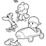 Pocoyo, Picture Of Pocoyo And Friends Coloring Page: Picture of Pocoyo and Friends Coloring Page