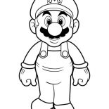 Mario Brothers, Picture Of Super Mario Brothers Coloring Page: Picture of Super Mario Brothers Coloring Page