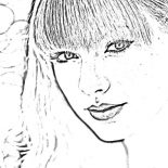 Taylor Swift, Picture Of Taylor Swift Coloring Page: Picture of Taylor Swift Coloring Page