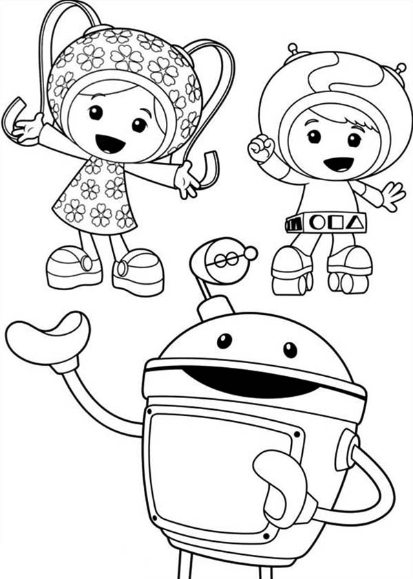 Team Umizoomi, : Picture of Team Umizoomi Coloring Page