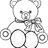 Teddy Bear, Picture Of Teddy Bear Coloring Page: Picture of Teddy Bear Coloring Page