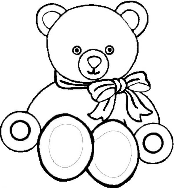 Teddy Bear, : Picture of Teddy Bear Coloring Page