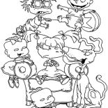 Rugrats, Picture Of The Rugrats Coloring Page: Picture of the Rugrats Coloring Page