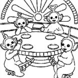 Teletubbies, Picture Of The Teletubbies Coloring Page: Picture of the Teletubbies Coloring Page