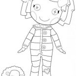 Lalaloopsy, Pillow Featherbed From Lalaloopsy Coloring Page: Pillow Featherbed from Lalaloopsy Coloring Page