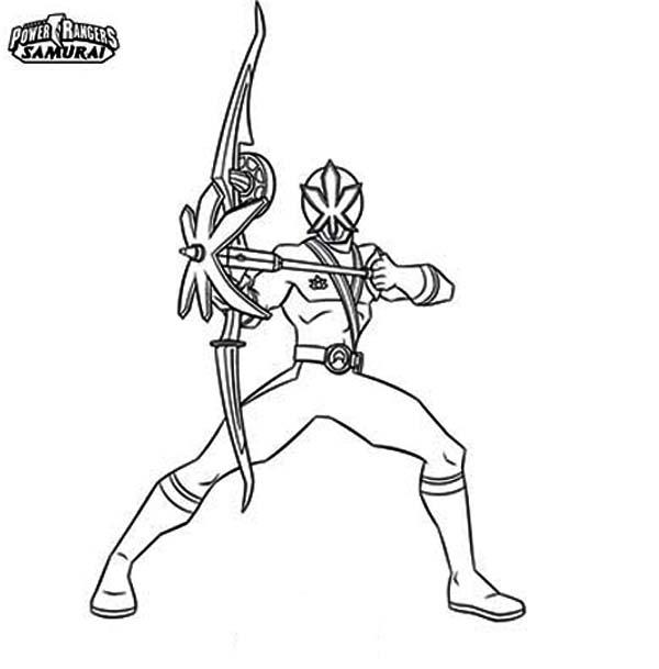 Power Rangers, : Pink Power Rangers Samurai Coloring Page