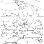 Parable of the Sower, Plant Grow On Bad Ground In Parable Of The Sower Coloring Page: Plant Grow on Bad Ground in Parable of the Sower Coloring Page