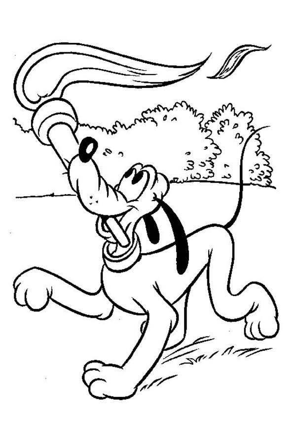Pluto The Dog Play With Torch Coloring Page Color Luna