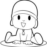 Pocoyo, Pocoyo Is Laughing Coloring Page: Pocoyo is Laughing Coloring Page