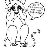Possum, Possum Closed His Eyes Coloring Page: Possum Closed His Eyes Coloring Page