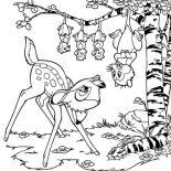 Possum, Possum Meet Bamby Coloring Page: Possum Meet Bamby Coloring Page