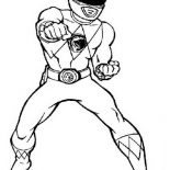 Power Rangers, Power Rangers Deathly Punch Coloring Page: Power Rangers Deathly Punch Coloring Page