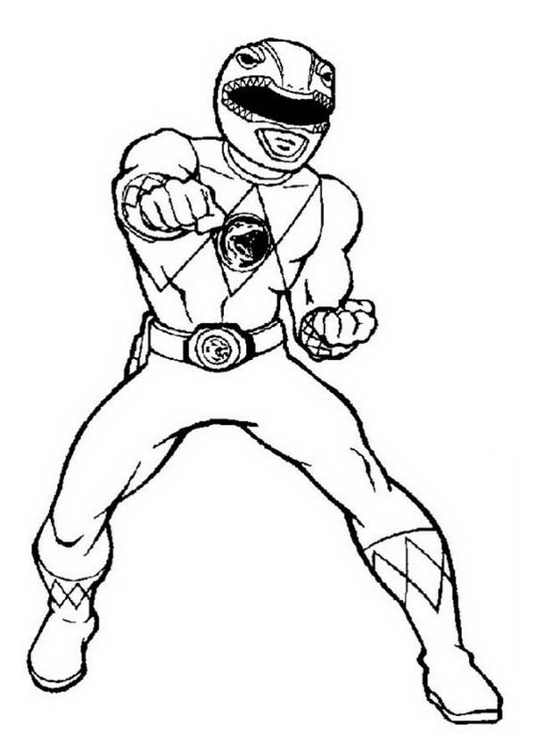 Power Rangers, : Power Rangers Deathly Punch Coloring Page