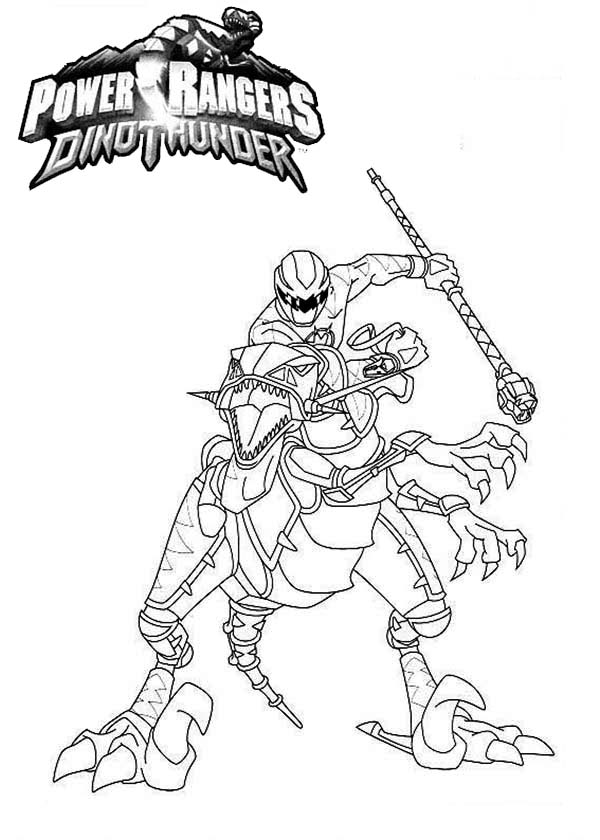 Power Rangers, : Power Rangers Dinothunder Coloring Page