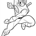 Power Rangers, Power Rangers Ninja Storm Chasing Enemy Coloring Page: Power Rangers Ninja Storm Chasing Enemy Coloring Page