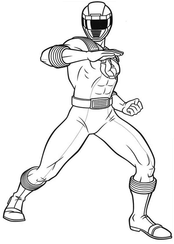 Power Rangers Ninja Storm Defending Earth Coloring Page