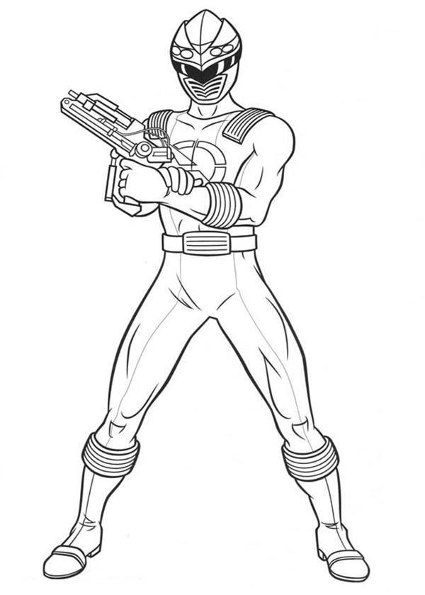 power rangers laser gun coloring page color