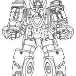 Power Rangers, Power Rangers Robot Assembled Coloring Page: Power Rangers Robot Assembled Coloring Page