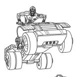 Power Rangers, Power Rangers SPD Ride An ATV Coloring Page For Kids: Power Rangers SPD Ride an ATV Coloring Page for Kids