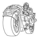 Power Rangers, Power Rangers SPD On Super Cool Motorcycle Coloring Page: Power Rangers SPD on Super Cool Motorcycle Coloring Page