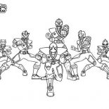 Power Rangers, Power Rangers Super Samurai Picture Coloring Page: Power Rangers Super Samurai Picture Coloring Page