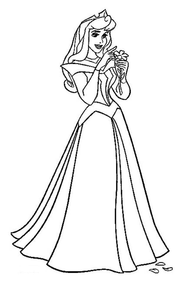 Sleeping Beauty, : Princess Aurora Count Her Luck in Sleeping Beauty Coloring Page