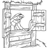 Sleeping Beauty, Princess Aurora Singing While Cleaning House In Sleeping Beauty Coloring Page: Princess Aurora Singing While Cleaning House in Sleeping Beauty Coloring Page